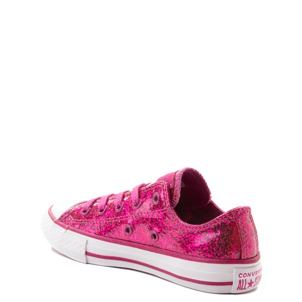 alternate view Converse Chuck Taylor All Star Lo Glitter Sneaker - Little Kid - FuchsiaALT2