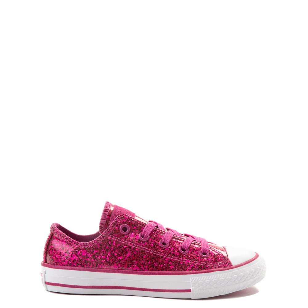 Converse Chuck Taylor All Star Lo Glitter Sneaker - Little Kid - Fuchsia