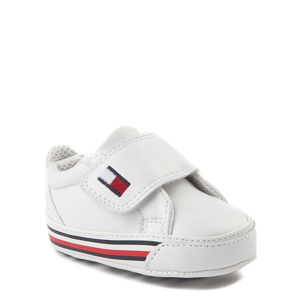 alternate view Tommy Hilfiger Heritage Layette Casual Shoe - Baby - WhiteALT1