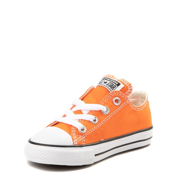 alternate view Converse Chuck Taylor All Star Lo Sneaker - Baby / Toddler - Golden Poppy OrangeALT3