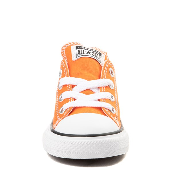 alternate view Converse Chuck Taylor All Star Lo Sneaker - Baby / Toddler - Golden Poppy OrangeALT4