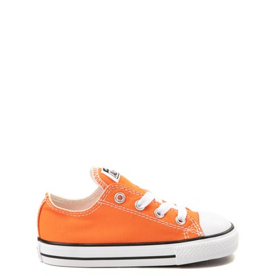 Main view of Converse Chuck Taylor All Star Lo Sneaker - Baby / Toddler - Golden Poppy Orange