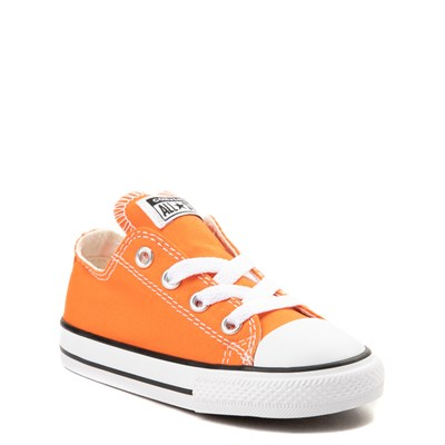 Alternate view of Converse Chuck Taylor All Star Lo Sneaker - Baby / Toddler - Golden Poppy Orange