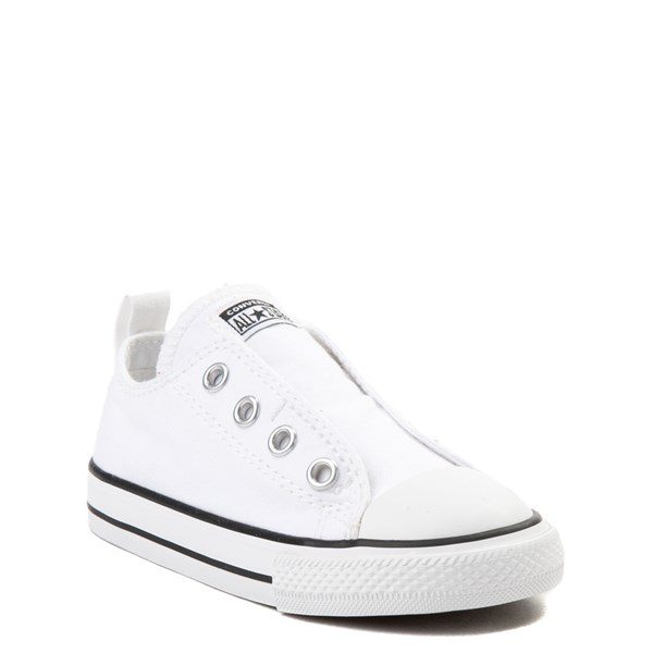 alternate view Converse Chuck Taylor All Star Simple Sneaker - Baby / Toddler - WhiteALT1