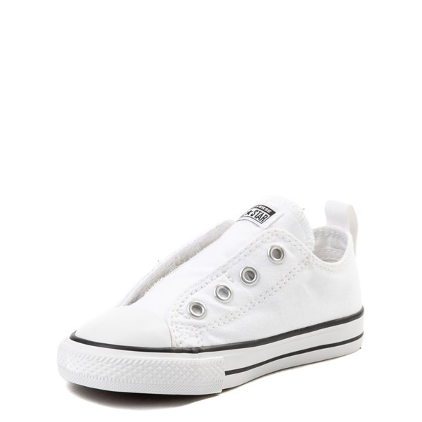 alternate view Converse Chuck Taylor All Star Simple Sneaker - Baby / Toddler - WhiteALT3