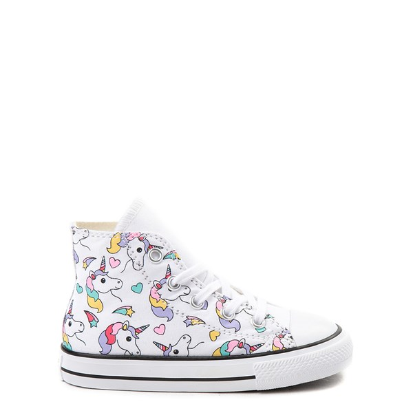 Main view of Converse Chuck Taylor All Star Hi Unicorn Rainbow Sneaker - Baby / Toddler - White / Multi