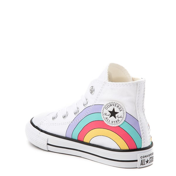alternate view Converse Chuck Taylor All Star Hi Unicorn Rainbow Sneaker - Baby / Toddler - White / MultiALT2