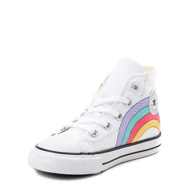 alternate view Converse Chuck Taylor All Star Hi Unicorn Rainbow Sneaker - Baby / Toddler - White / MultiALT3