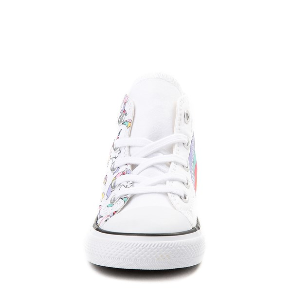 alternate view Converse Chuck Taylor All Star Hi Unicorn Rainbow Sneaker - Baby / Toddler - White / MultiALT4