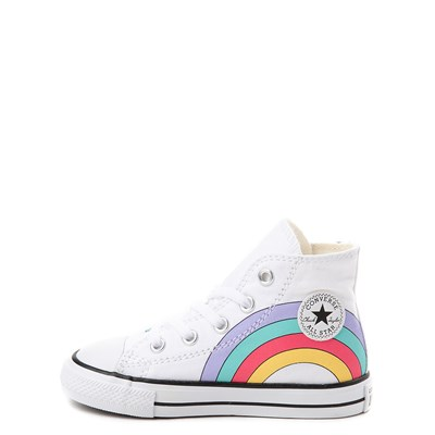 Alternate view of Converse Chuck Taylor All Star Hi Unicorn Rainbow Sneaker - Baby / Toddler - White / Multi