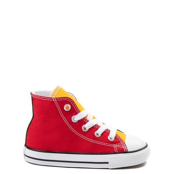 Default view of Converse Chuck Taylor All Star Hi Color-Block Sneaker - Baby / Toddler - Multi