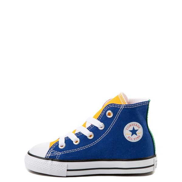 Alternate view of Converse Chuck Taylor All Star Hi Color-Block Sneaker - Baby / Toddler - Multi