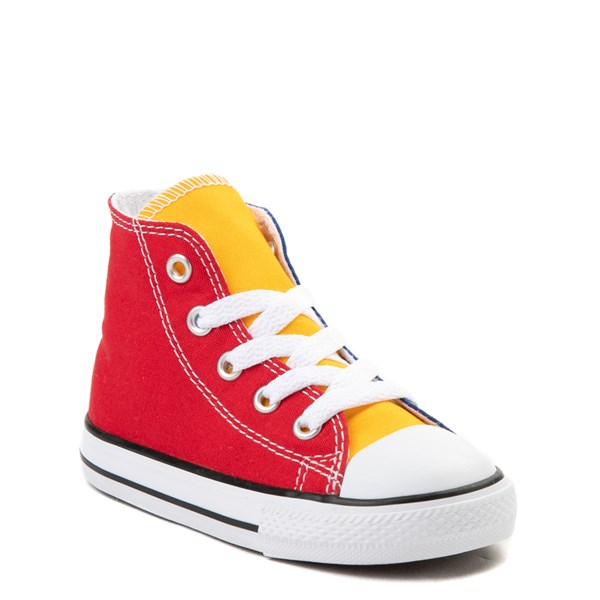 alternate view Converse Chuck Taylor All Star Hi Color-Block Sneaker - Baby / ToddlerALT1B