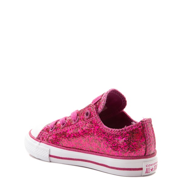 alternate view Converse Chuck Taylor All Star Lo Glitter Sneaker - Baby / Toddler - FuchsiaALT2