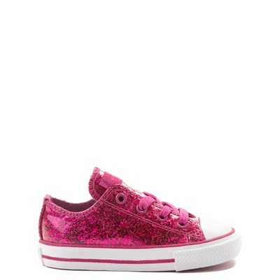 Main view of Converse Chuck Taylor All Star Lo Glitter Sneaker - Baby / Toddler - Fuchsia