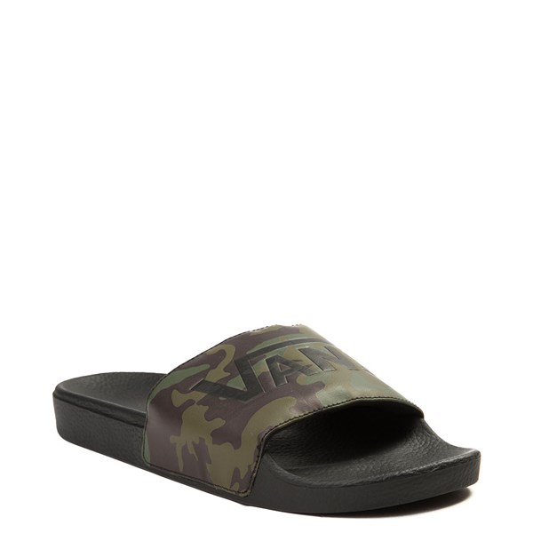 Alternate view of Mens Vans Slide On Sandal - Black / Camo