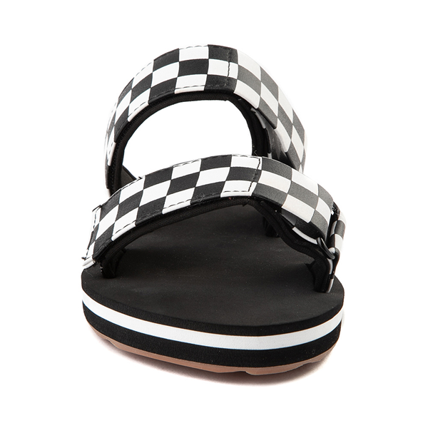alternate view Womens Vans Cayucas Checkerboard Slide Sandal - Black / Marshmallow WhiteALT4