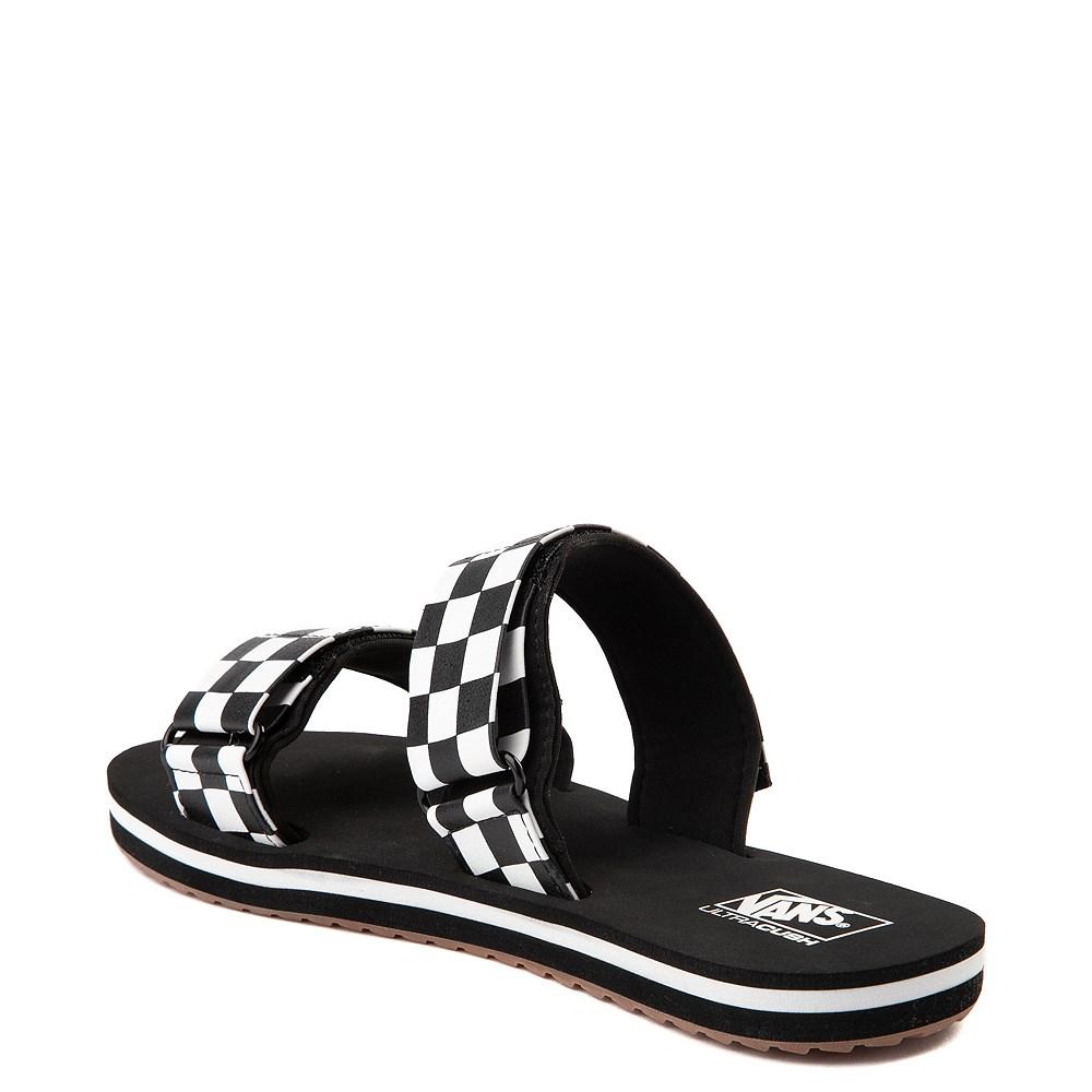 3ee35430594 Womens Vans Cayucas Chex Slide Sandal