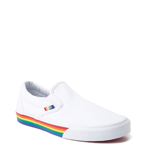 Alternate view of Vans Slip On Rainbow Skate Shoe - White / Multi