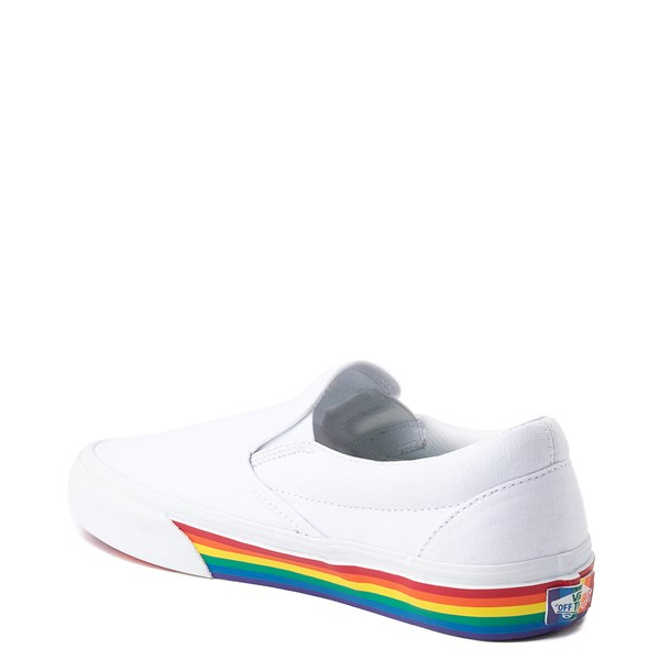 alternate view Vans Slip On Rainbow Skate Shoe - White / MultiALT2