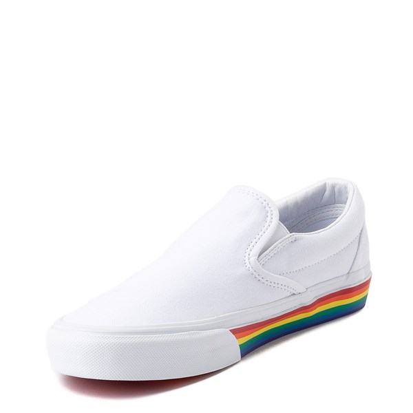 alternate view Vans Slip On Rainbow Skate Shoe - White / MultiALT3
