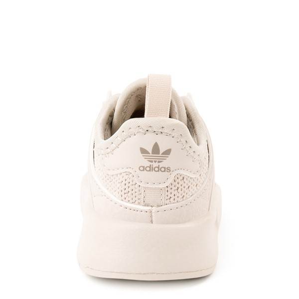 alternate view adidas X_PLR Athletic Shoe - Toddler - Beige MonochromeALT4