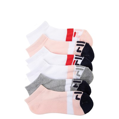 Main view of Womens Fila Low Cut Socks 6 Pack - Multi