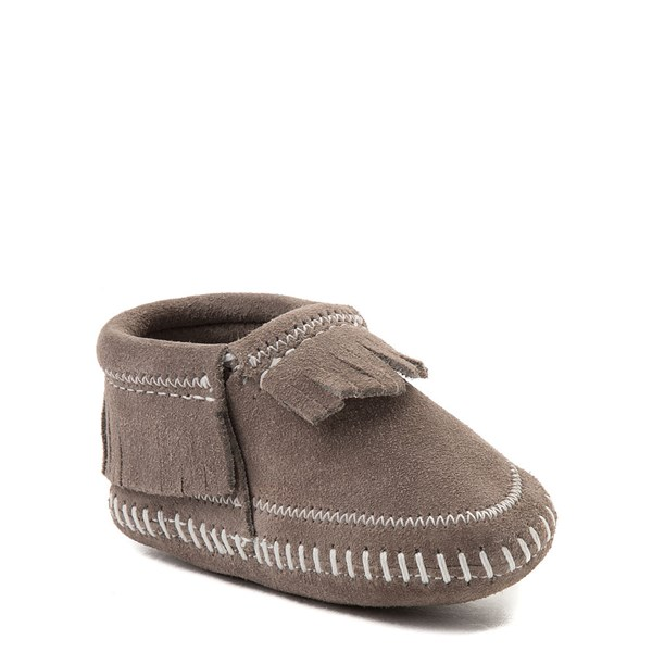 alternate view Minnetonka Riley Bootie - Baby / Toddler - GrayALT1