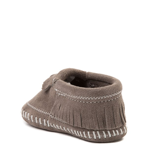 alternate view Minnetonka Riley Bootie - Baby / Toddler - GrayALT2