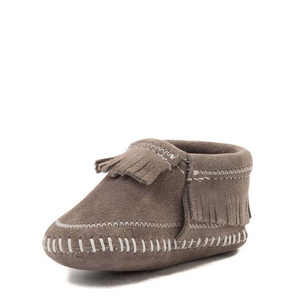 alternate view Minnetonka Riley Bootie - Baby / Toddler - GrayALT3