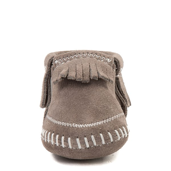 alternate view Minnetonka Riley Bootie - Baby / Toddler - GrayALT4