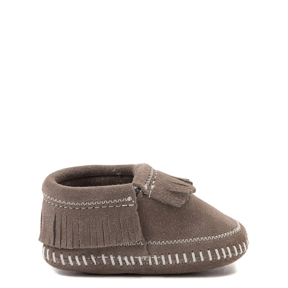 Minnetonka Riley Bootie - Baby / Toddler - Gray