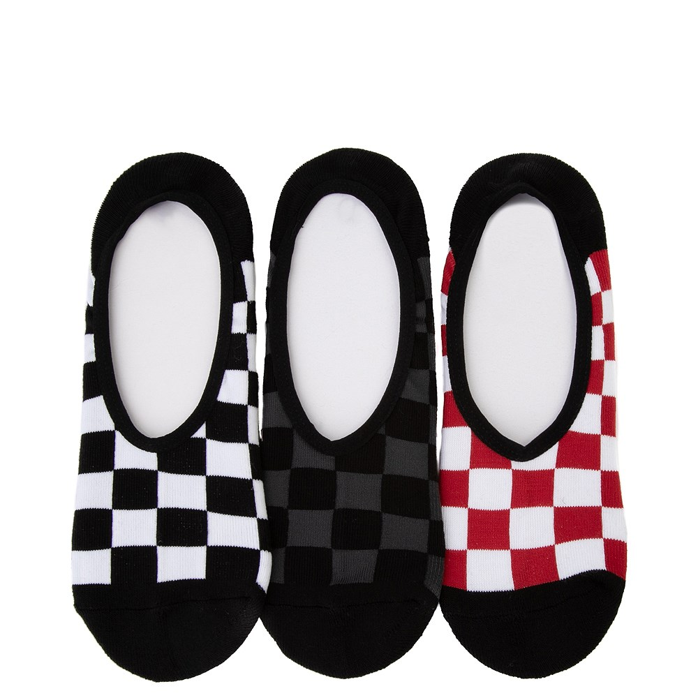 Mens Vans Checkerboard Liners 3 Pack - Multi