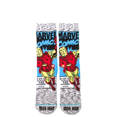 Alternate view of Mens Stance Iron Man Comic Crew Socks