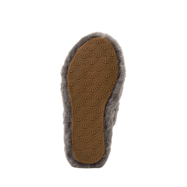 alternate view UGG® Fluff Yeah Slide Sandal - Little Kid / Big Kid - GrayALT3
