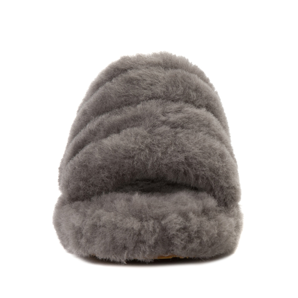 alternate view UGG® Fluff Yeah Slide Sandal - Little Kid / Big Kid - GrayALT4