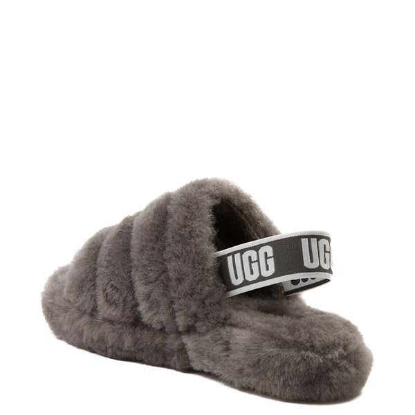 alternate view UGG® Fluff Yeah Slide Sandal - Little Kid / Big Kid - GrayALT2