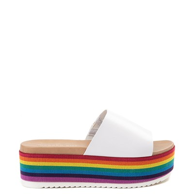 Womens Madden Girl Ashley Platform Slide Sandal