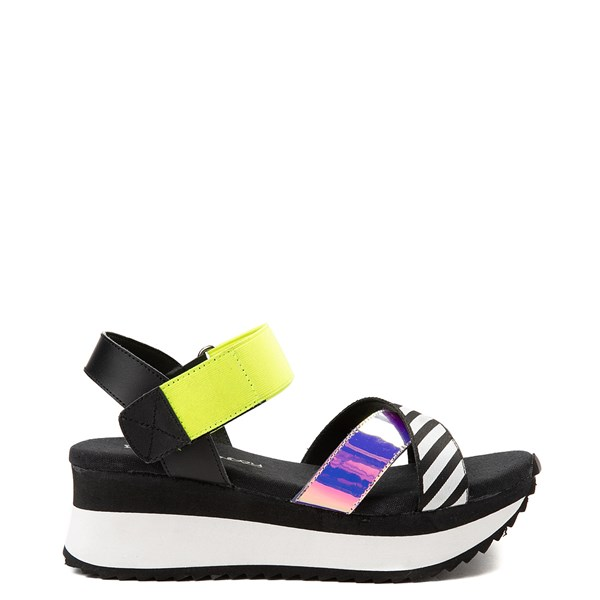 Womens Dirty Laundry Get Some Platform Sandal - Black / Multi