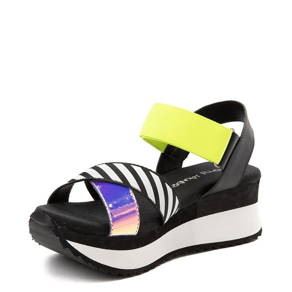 alternate view Womens Dirty Laundry Get Some Platform Sandal - Black / MultiALT3