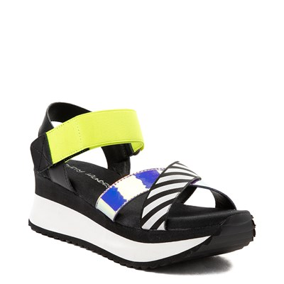 Alternate view of Womens Dirty Laundry Get Some Platform Sandal - Black / Multi