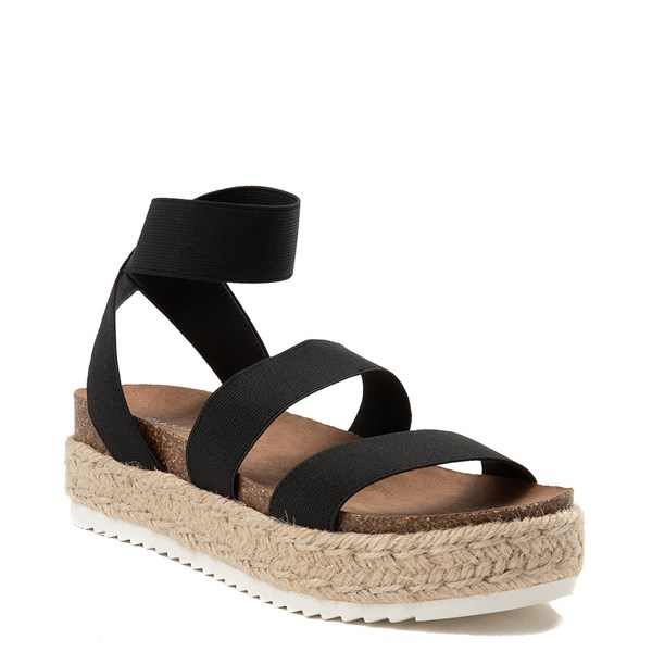 alternate view Womens Madden Girl Carly Espadrille Platform Sandal - BlackALT1