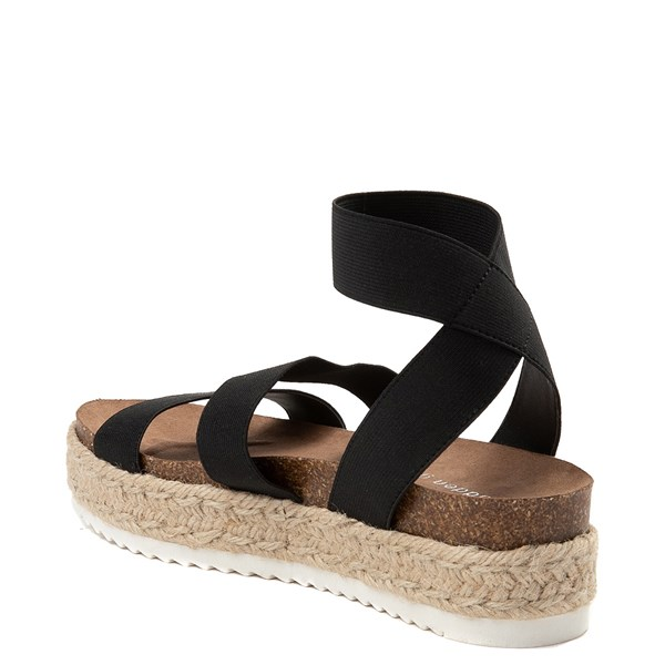 alternate view Womens Madden Girl Carly Espadrille Platform Sandal - BlackALT2