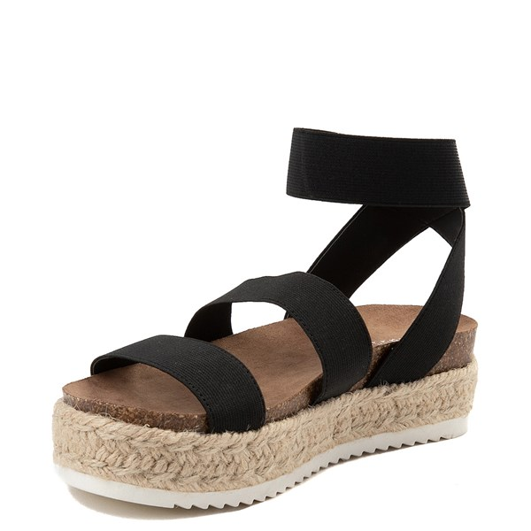 alternate view Womens Madden Girl Carly Espadrille Platform Sandal - BlackALT3
