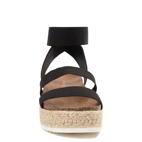 alternate view Womens Madden Girl Carly Espadrille Platform Sandal - BlackALT4