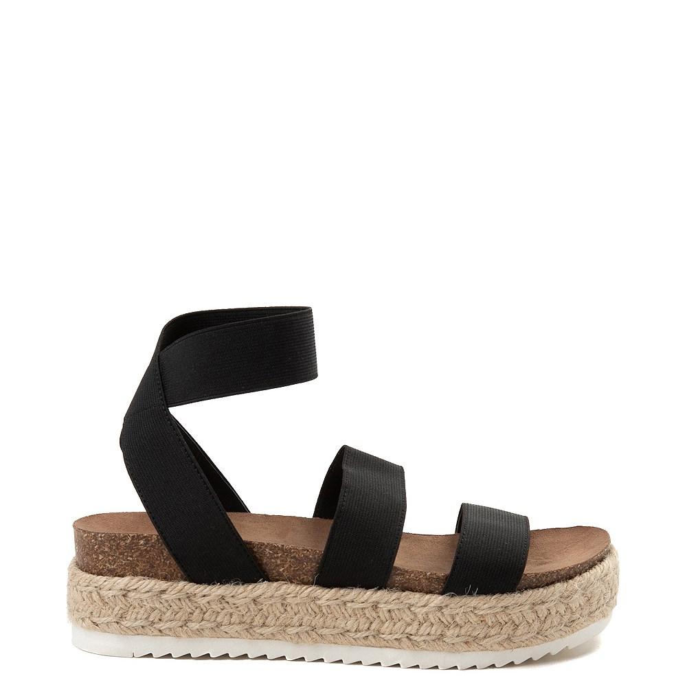 Womens Madden Girl Carly Espadrille Platform Sandal - Black