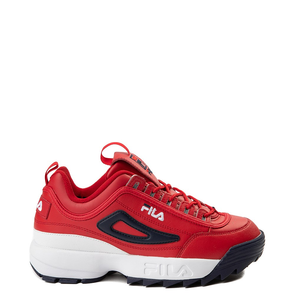 Mens Fila Disruptor 2 Premium Athletic Shoe - Red