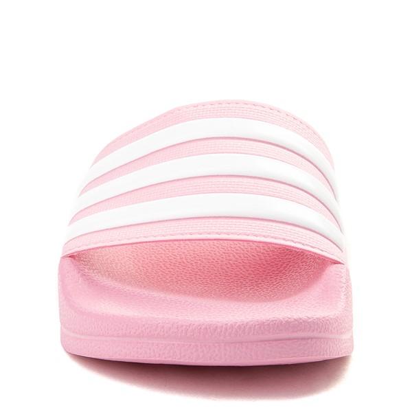 alternate view adidas Adilette Shower Slide Sandal - Little Kid / Big Kid - PinkALT4