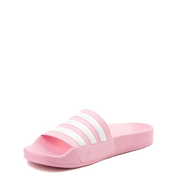 alternate view adidas Adilette Shower Slide Sandal - Little Kid / Big Kid - PinkALT3