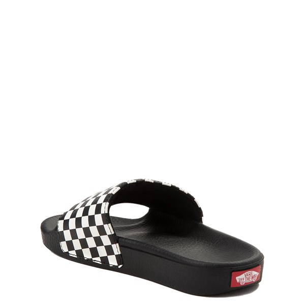 alternate view Vans Slide On Checkerboard Sandal - Little Kid / Big Kid - Black / WhiteALT2